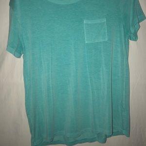 Teal blue v-neck with pocket